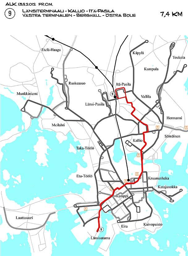 Srs Helsingin Raitiotielinjat Linja 9